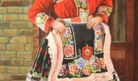 Výstava diel Pavla Kohúta - Dievča v kroji (Kysač, Srbsko)