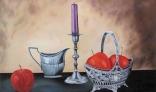 Výstava diel Jána Melišeka - Zátišie s ovocím I