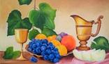 Výstava diel Jána Melišeka - Zátišie s ovocím III
