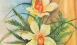Výstava diel Evy Králikovej - Tóthovej (Ikebana s orchideami)