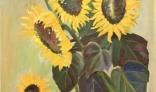 Výstava diel Evy Králikovej - Tóthovej (Dozrievanie slnečníc)