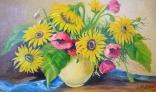Výstava diel Evy Králikovej - Tóthovej (Zátišie so slnečnicami)