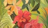 Výstava diel Evy Králikovej - Tóthovej (Kompozícia s orchideami)