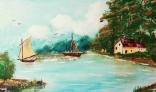 Galantská paleta 2021 - Takáč Ivan - Zátoka s plachetnicami